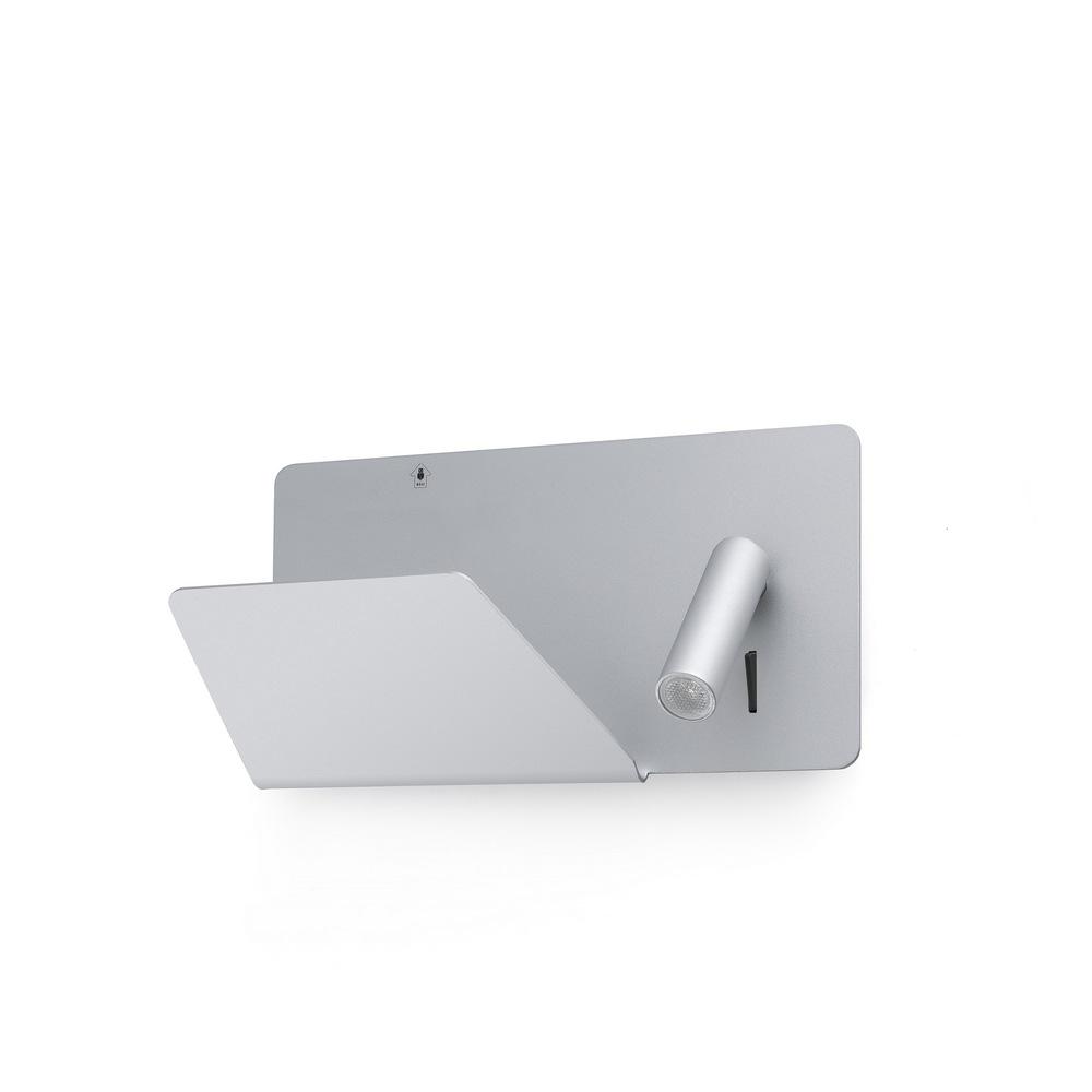 SUAU  applique grise avec liseuse LED 3W avec
