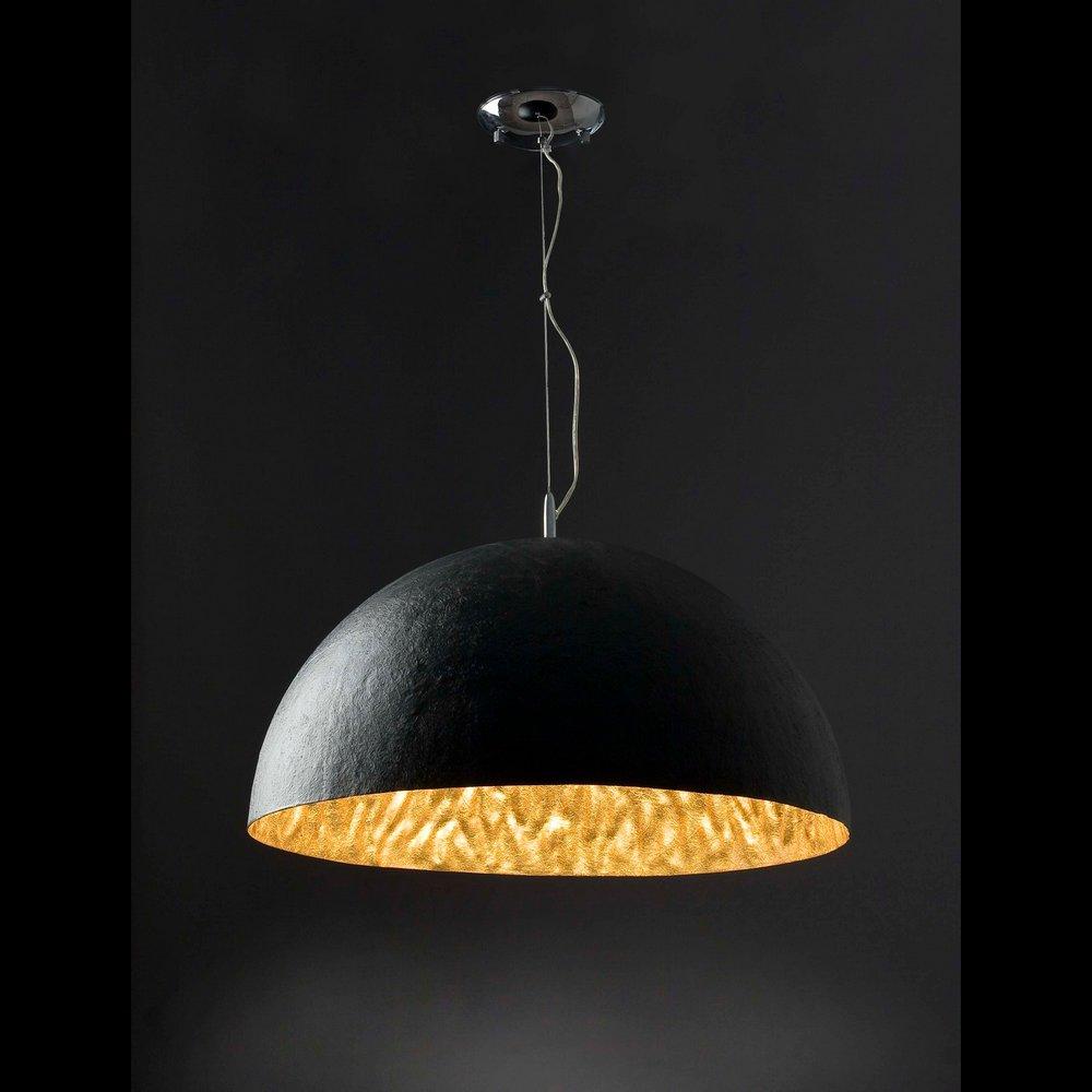 suspension design avec r flecteur noir et or mod le magma p faro 29468 8421776294684. Black Bedroom Furniture Sets. Home Design Ideas