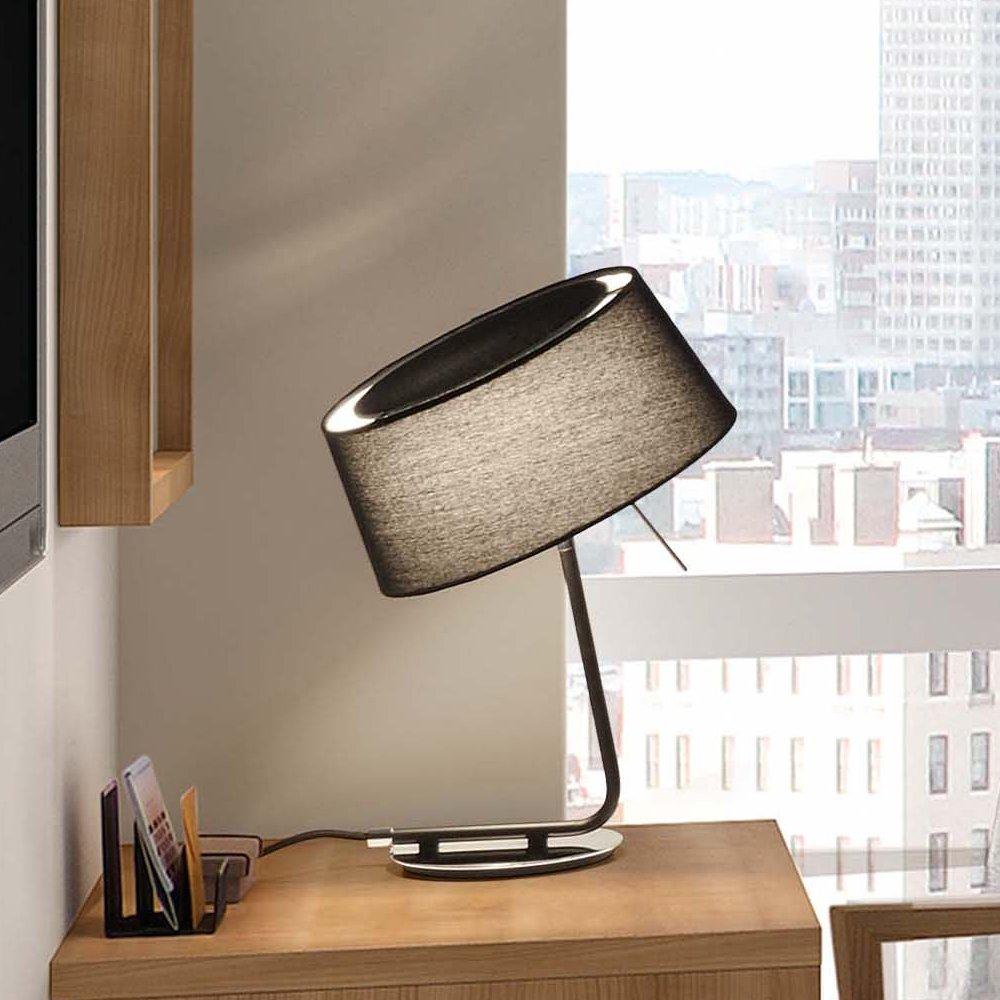 lampe de table d corative collection hotel avec abat jour noir faro 29947 ean 8421776044920. Black Bedroom Furniture Sets. Home Design Ideas