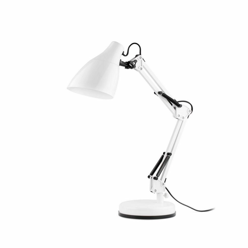 gru lampe de bureau articul e blanche 1xe27 faro 51916 8421776062863. Black Bedroom Furniture Sets. Home Design Ideas