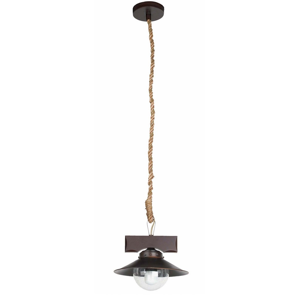 Nudos suspension lumineuse en m tal et bois marron fonc for Suspension lumineuse