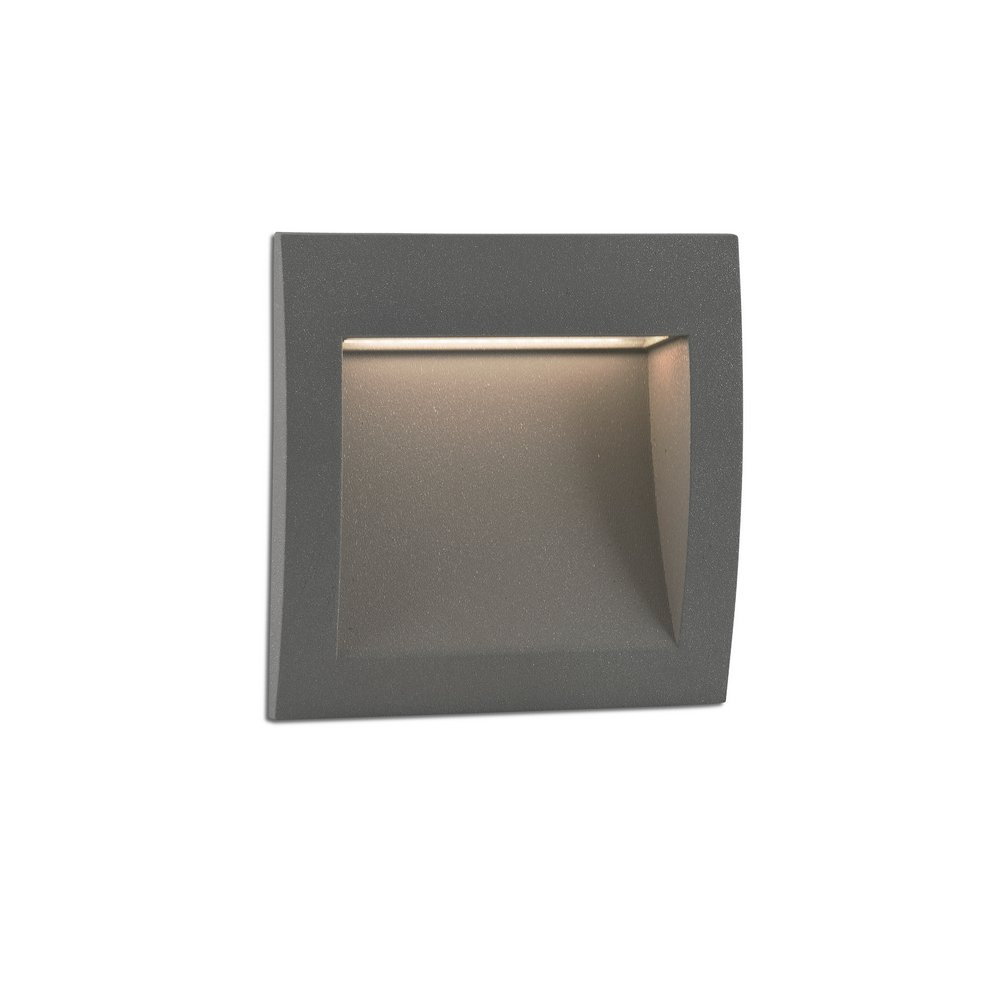 Sedna 1 encastr mural led eclairage indirect de for Eclairage exterieur mur