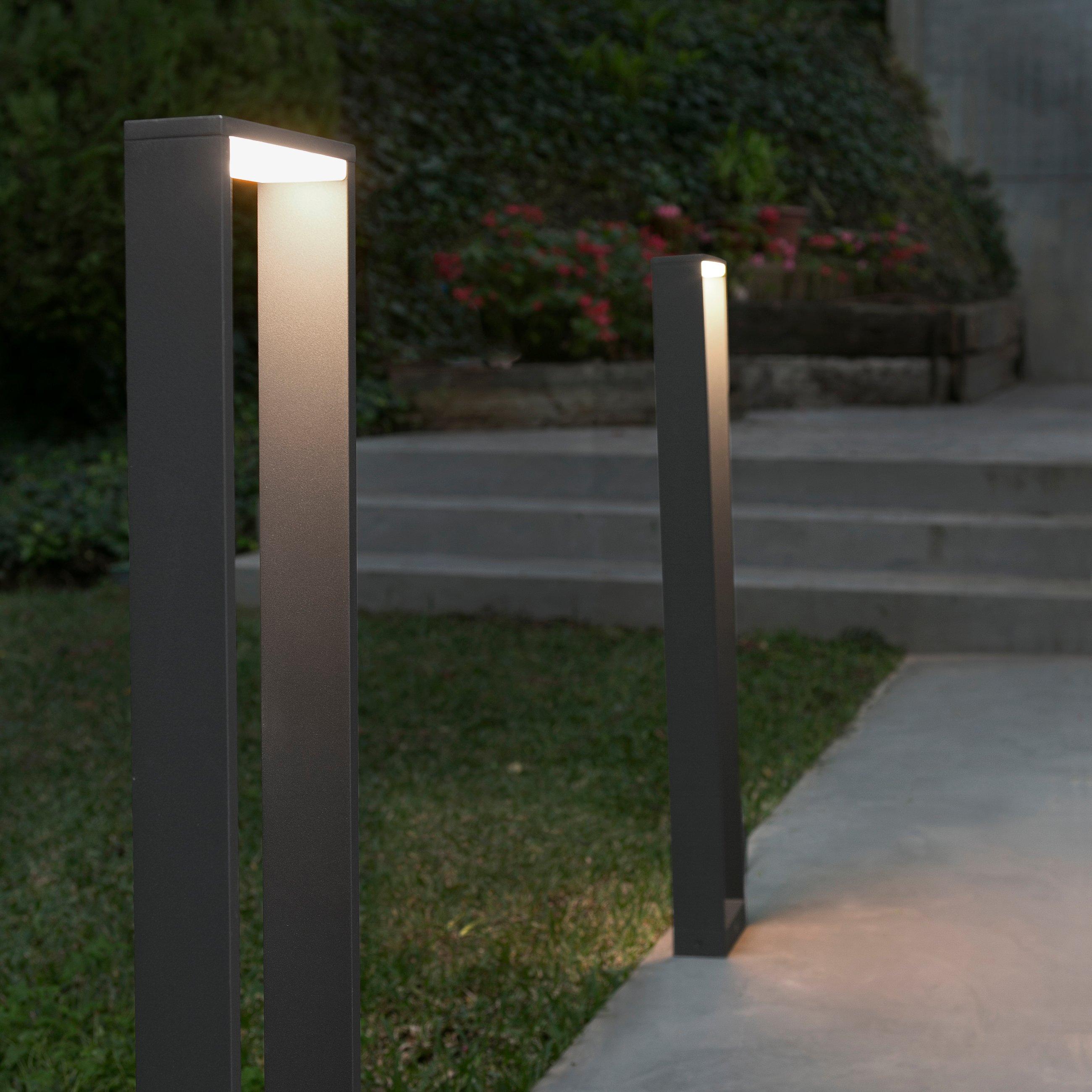 Alp borne lumineuse led hauteur 800 mm pour l for Borne eclairage exterieur