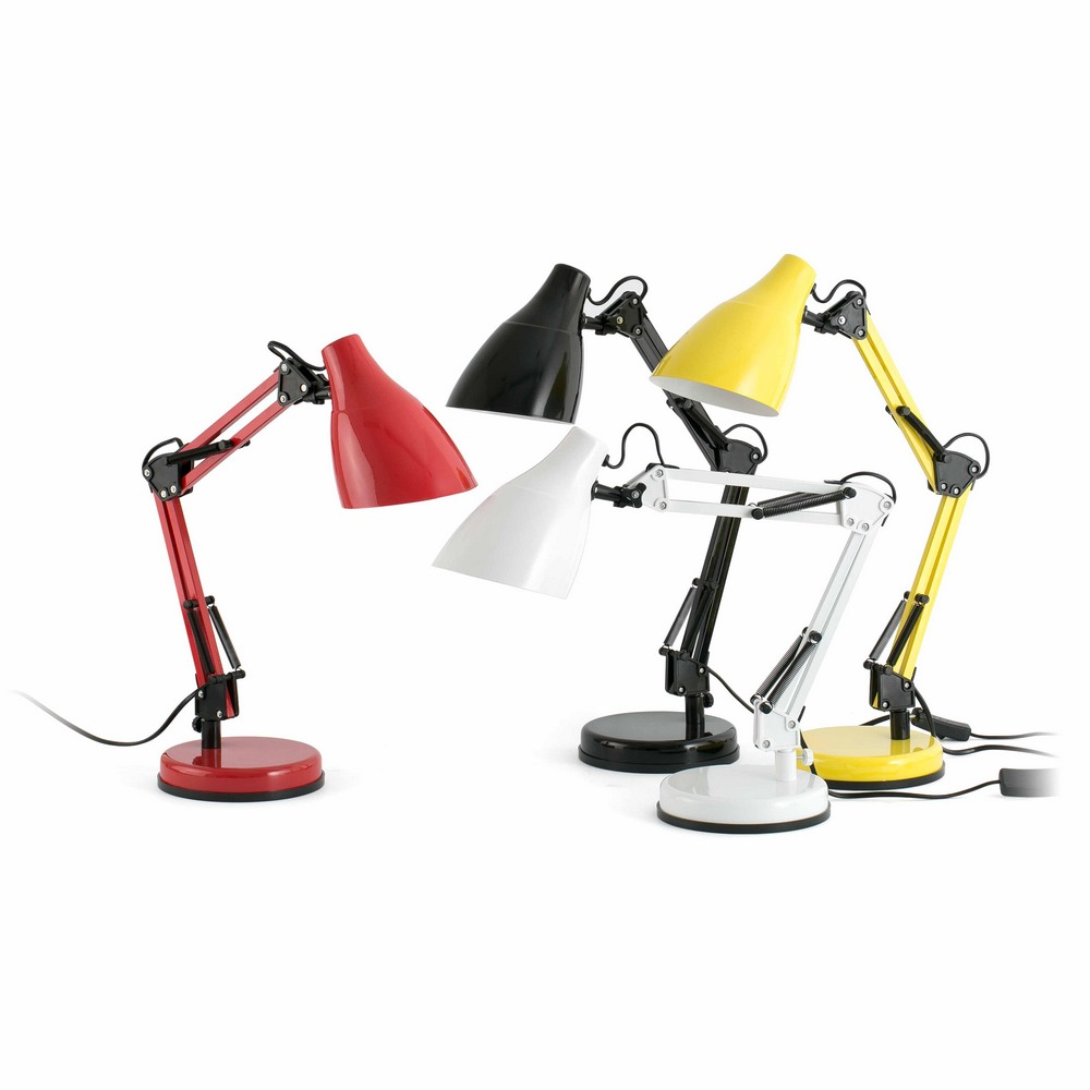 gru lampe de bureau articul e blanche 1xe27 faro 51916. Black Bedroom Furniture Sets. Home Design Ideas