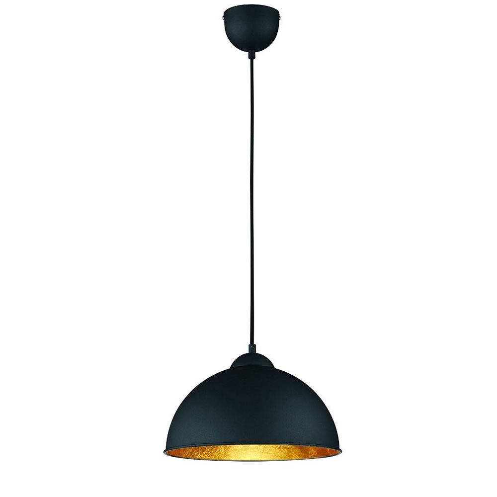 jimmy suspension noire avec r flecteur dor 1l e27. Black Bedroom Furniture Sets. Home Design Ideas