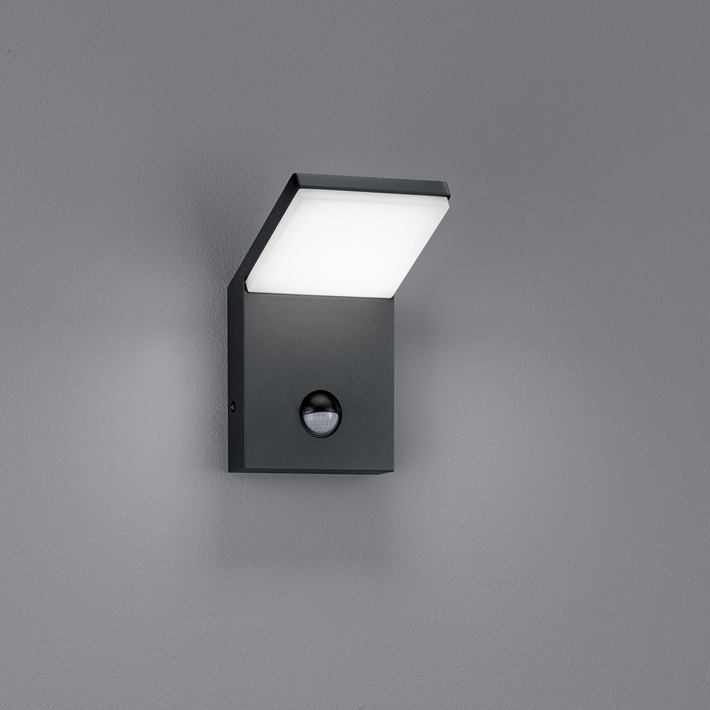 pearl pplique led exterieur anthracite 9w avec det cteur. Black Bedroom Furniture Sets. Home Design Ideas