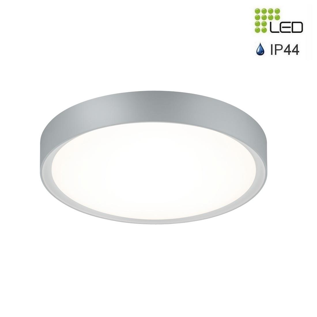 Clarimo plafonnier led rond gris titane 18w 1600 lumens ip44 for Plafonnier exterieur led