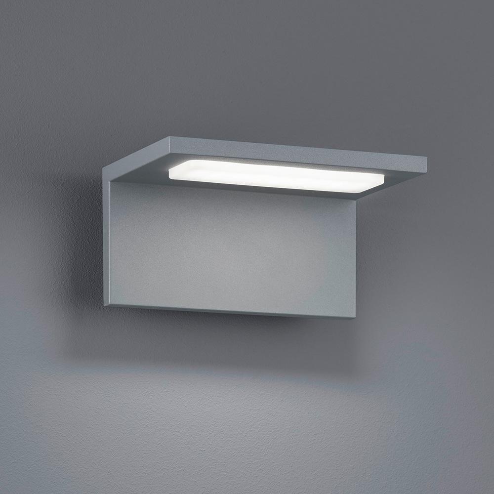 trave applique led exterieur gris titane 6 5w. Black Bedroom Furniture Sets. Home Design Ideas
