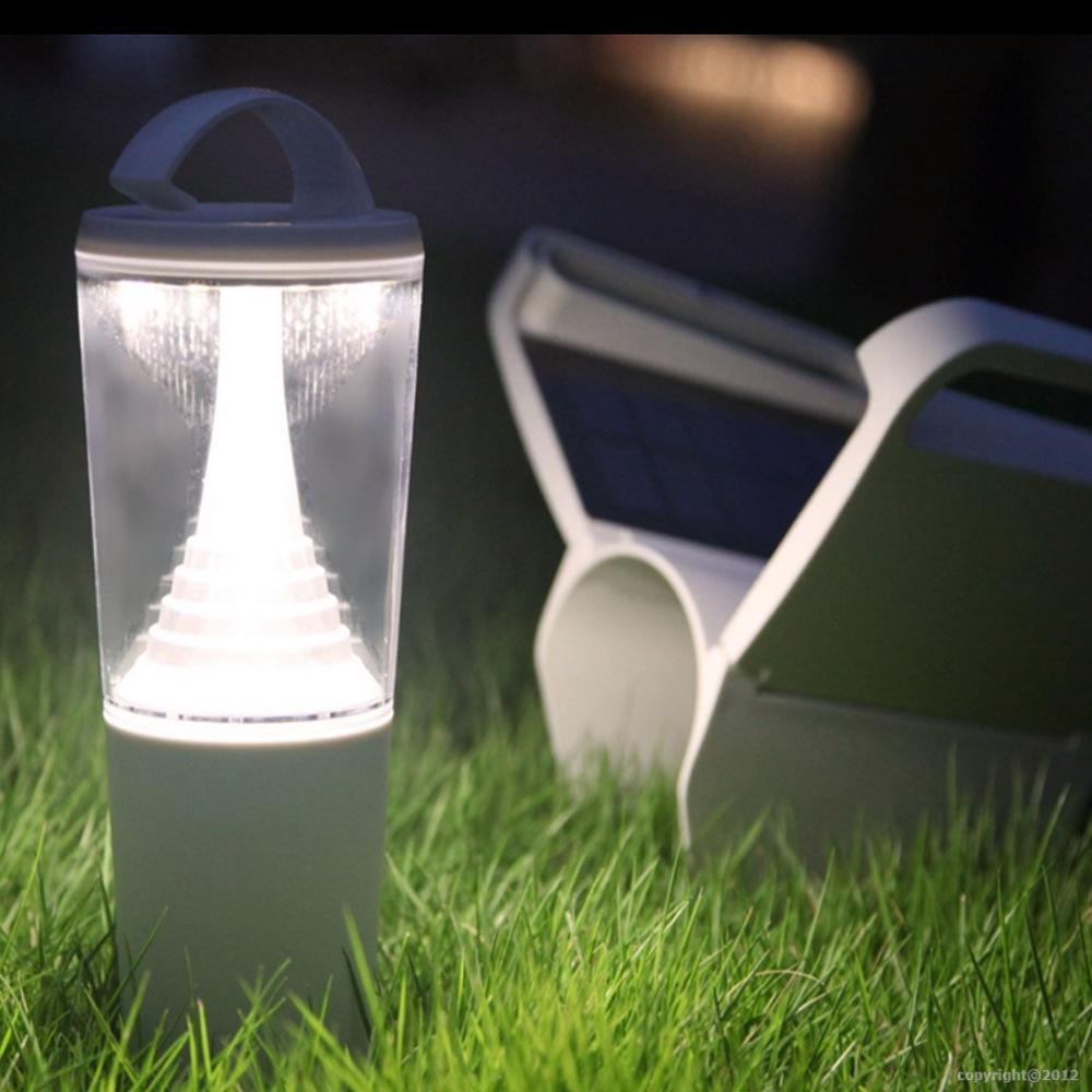 Lampe de table portable autonome energie solaire for Eclairage jardin autonome