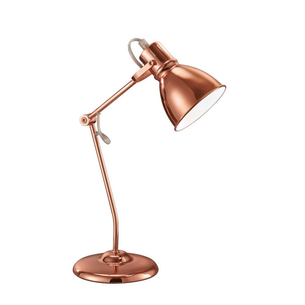 3005 lampe de table en m tal cuivr 1l e14. Black Bedroom Furniture Sets. Home Design Ideas