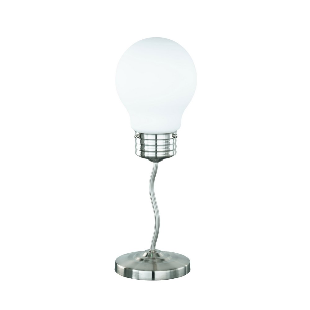 Ampy lampe de table en nickel mat 1 spot en verre d poli e14 - Grosse ampoule decorative ...