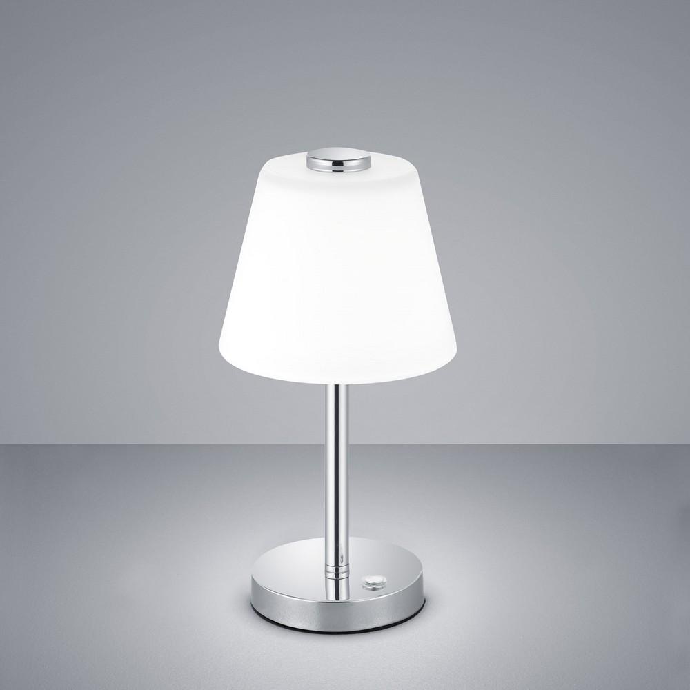 emerald lampe de table led en m tal chrom avec intensit r glable par interrupteur. Black Bedroom Furniture Sets. Home Design Ideas