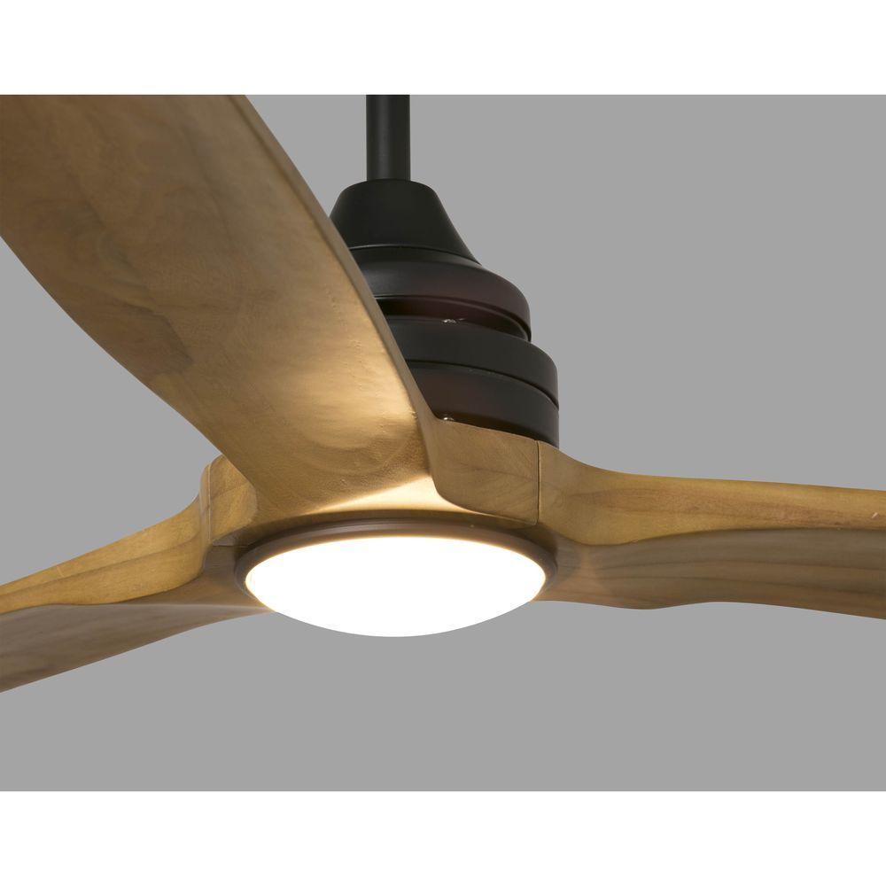 FARO 33719 Ventilateur de plafond bois et noir Ø 152cm ALO