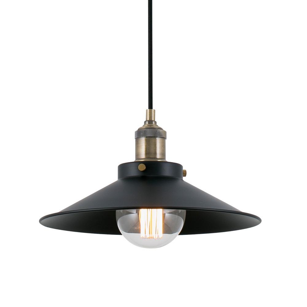 marlin suspension lumineuse en m tal noir et or vieilli e27 faro 64133 8421776052192. Black Bedroom Furniture Sets. Home Design Ideas