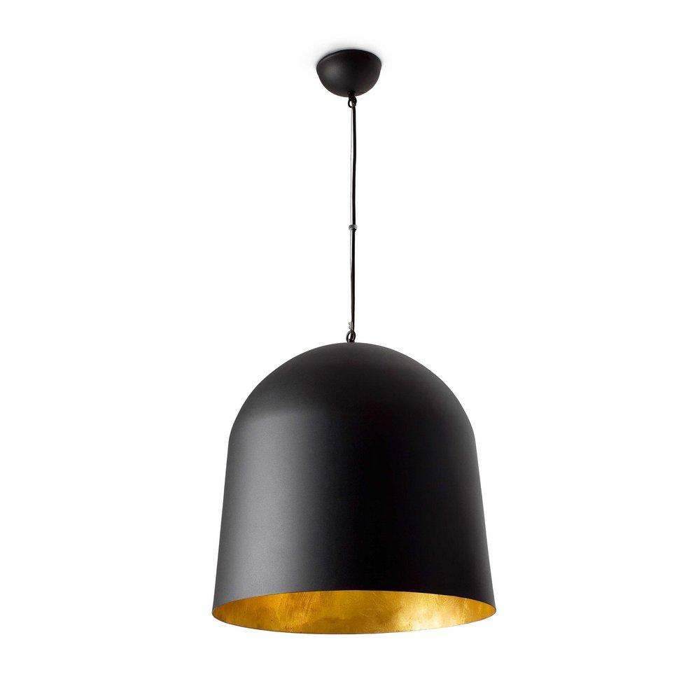 suspension moderne avec abat jour noir et or mod le crater faro 68461 8421776010406. Black Bedroom Furniture Sets. Home Design Ideas