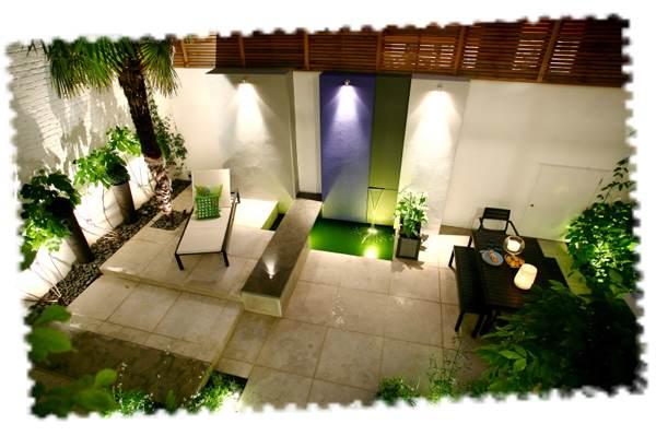 Exemple d'éclairage de la terrasse
