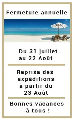 Vacances d'été, fermeture du 31 juillet au 22 Aout