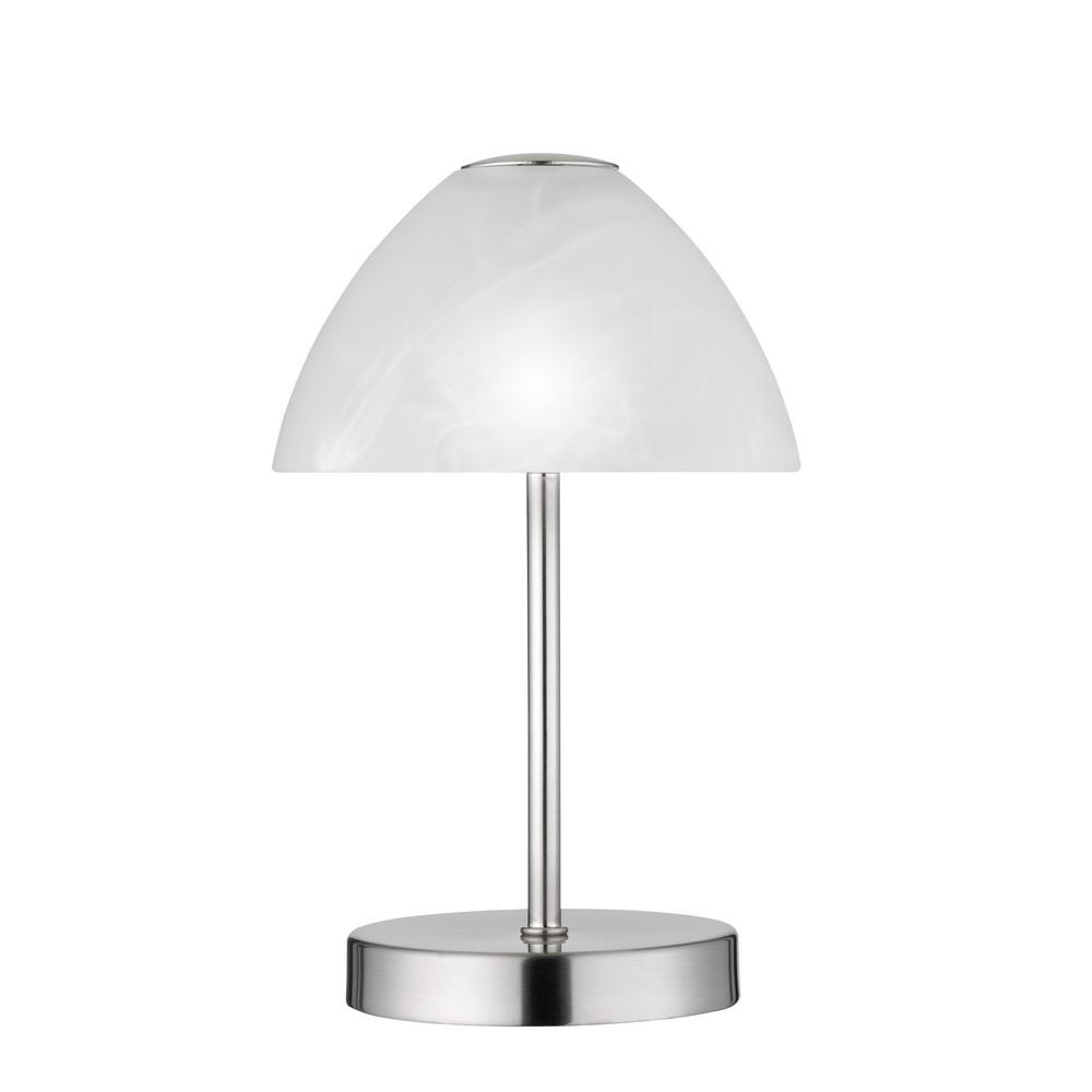 Queen lampe de table chevet 2 5w led en m tal nickel mat - Lampe table de chevet ...