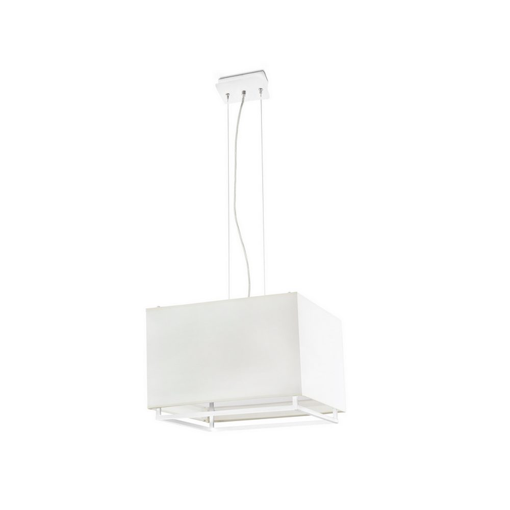 vesper suspension blanche avec un abat jour beige 3 x e27. Black Bedroom Furniture Sets. Home Design Ideas