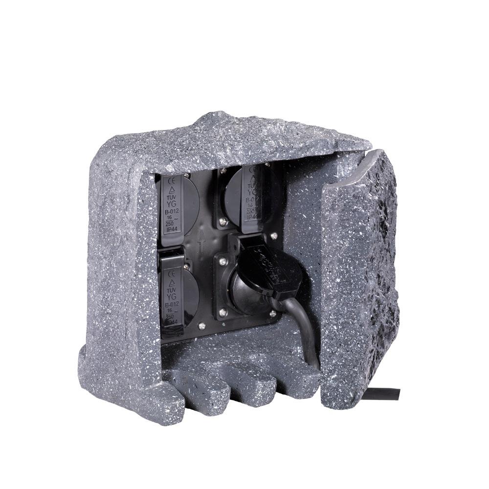 rocher 1 bloc de 4 prises de courant ext rieur design. Black Bedroom Furniture Sets. Home Design Ideas