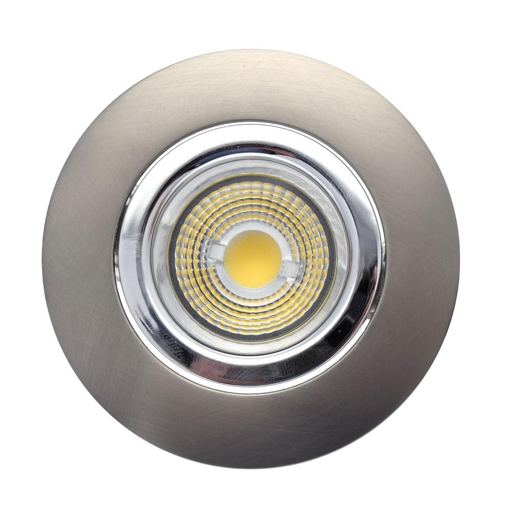 Nouveau SPOTLED : Spot encastré extra-plat blanc ou alu brossé 6,5W led WR-44