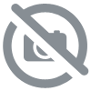 Lampe de table nickel mat collection MITIC avec abat jour en tissu beige (FARO 68417)